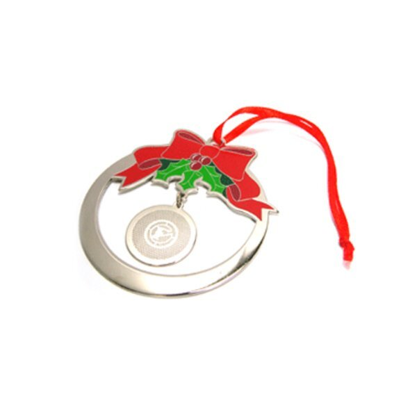 Holiday Wreath Plated Finish Ornament