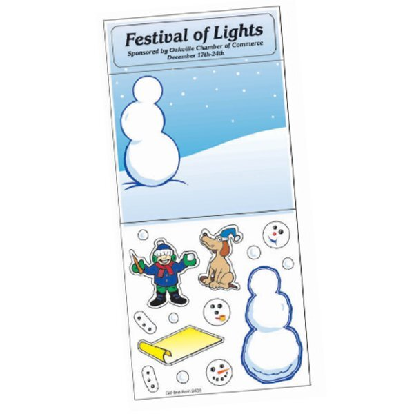 Peel N' Play Stickers - Decorate the Snowman