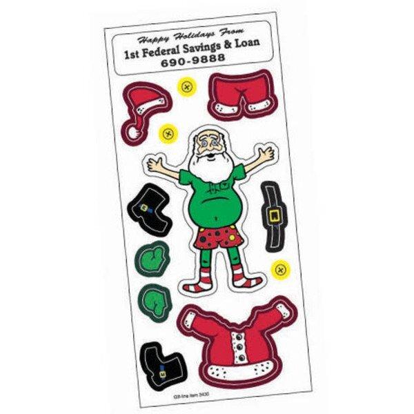 Peel N' Play Stickers - Dress Santa