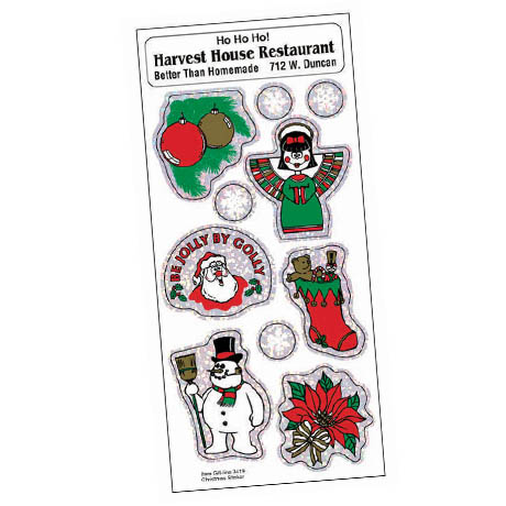 Holly Jolly Stickers - Christmas Theme