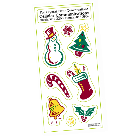 Holly Jolly Stickers - Holiday Theme
