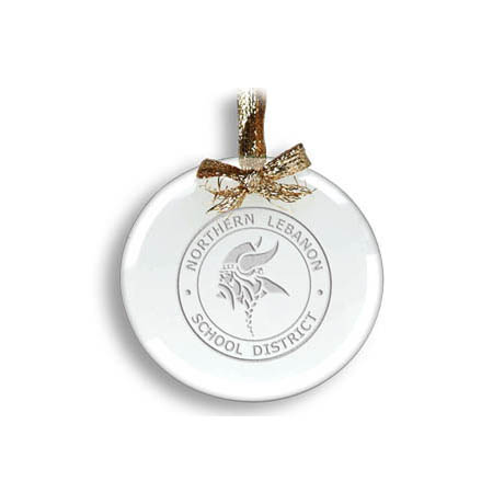 Round Jade Ornament - Deep Etched