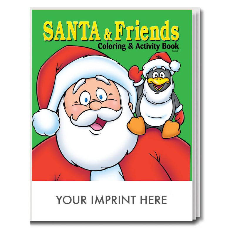 Santa & Friends Coloring & Activity Book