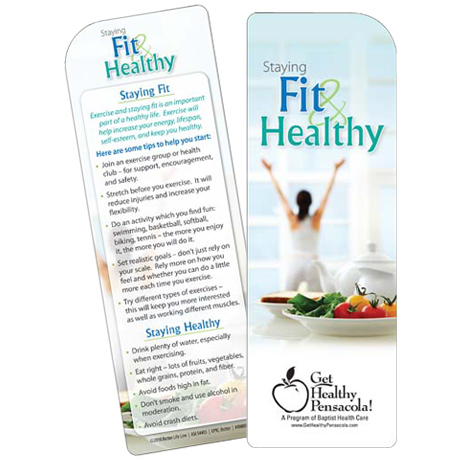 Staying Fit and Healthy Bookmark