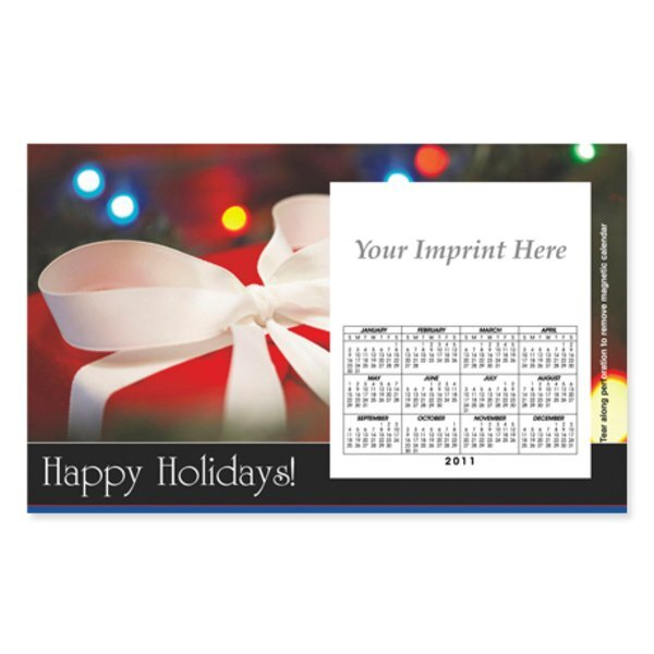 Perforated Postcard Magnet -  Holiday Gift Box