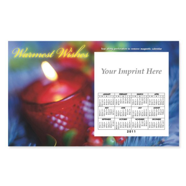 Perforated Postcard Magnet - Holiday Candle