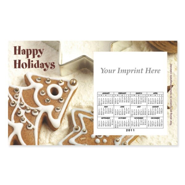 Perforated Postcard Magnet - Holiday Cookies