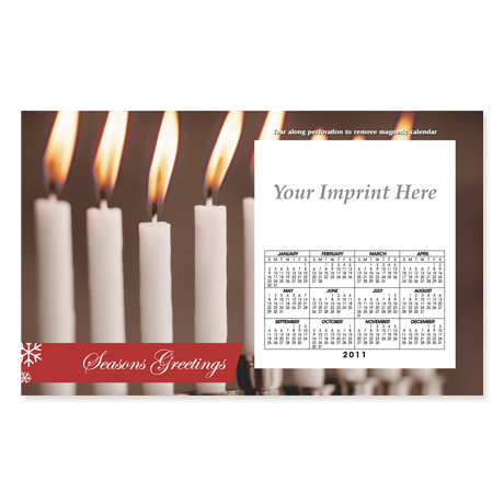 Perforated Postcard Magnet - White Candles