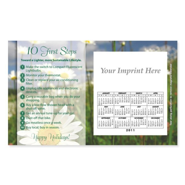 Perforated Postcard Magnet - Holiday Go Green