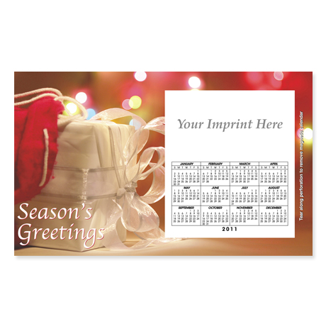 Perforated Postcard Magnet - Holiday Presents