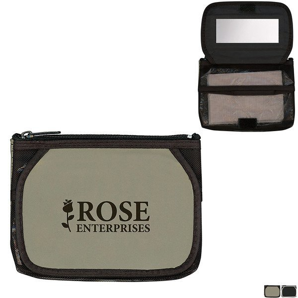 Triplette Cosmetic Bag with Mirror & Tissues