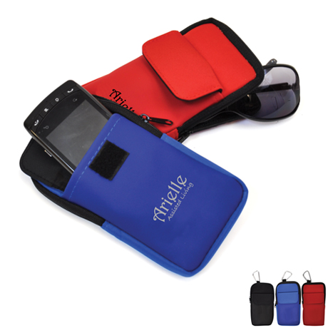 Cell Phone, Eyeglass and Gadget Holder Case