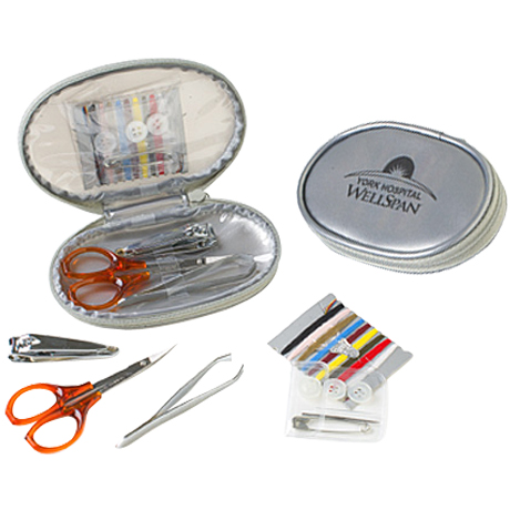 Silver Flash Travel Sewing & Manicure Kit