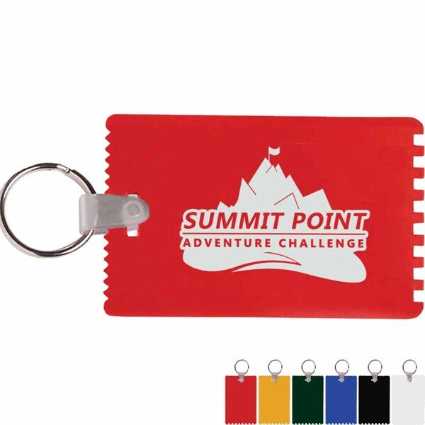 Credit Card Ice Scraper with Key Ring