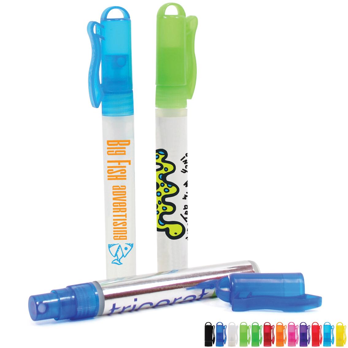 Color Pop Antibacterial Hand Sanitizer Spray, 10ml, Full Color Imprint