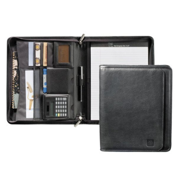 Manhattan Leather Zippered Padfolio