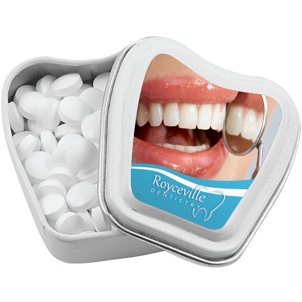 Tooth Shaped Sugar Free Mint Tin