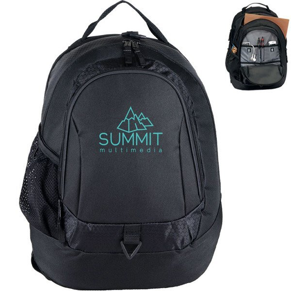 """Life in Motion™ Primary Honeycomb Dobby 15"""" Computer Backpack"""