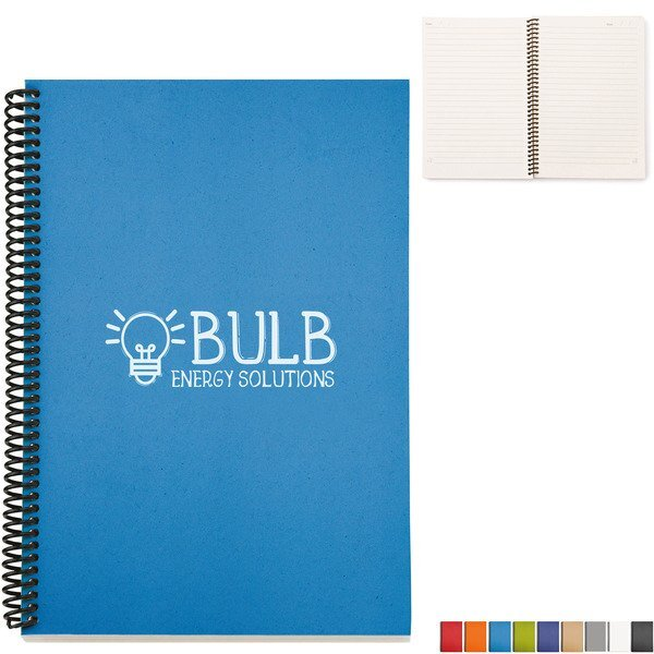 """Recycled Spiral Bound Notebook, 6"""" x 9"""""""