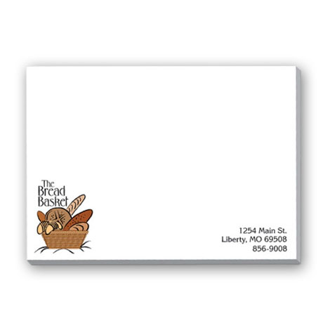 "White 25 Sheet Adhesive Note Pads, 4"" x 3"""