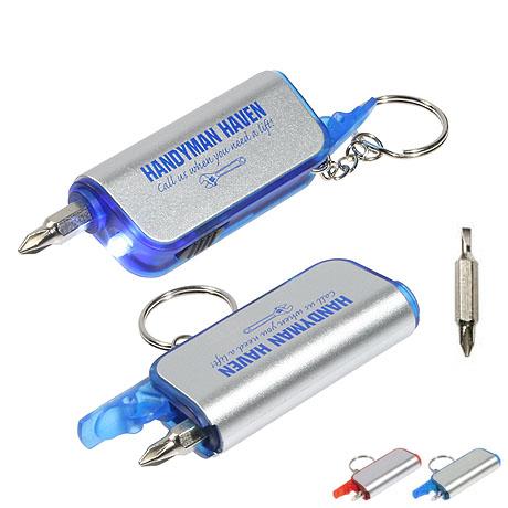 Screwdriver Flashlight Key Chain