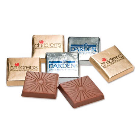 """Foil Wrapped Belgian Chocolate Square, 1-1/4"""""""