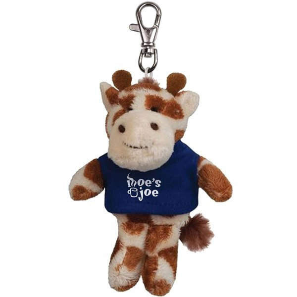 Giraffe Wild Bunch Plush Key Tag