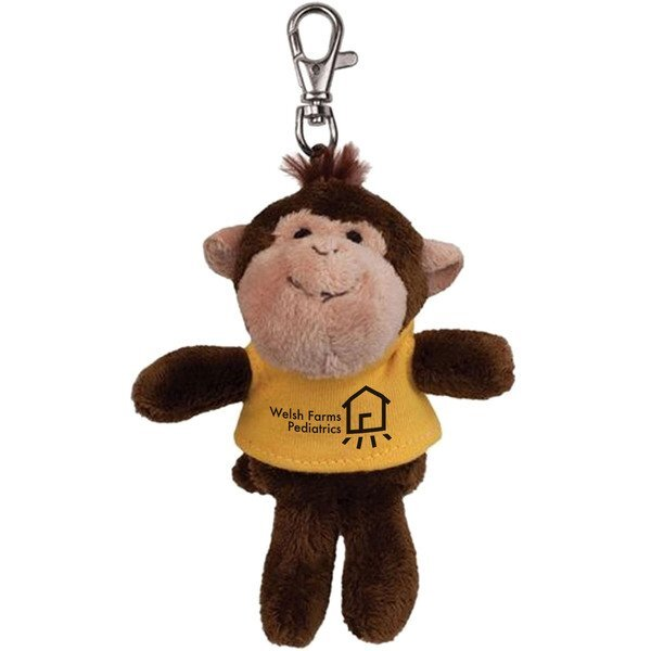 Monkey Wild Bunch Plush Key Tag