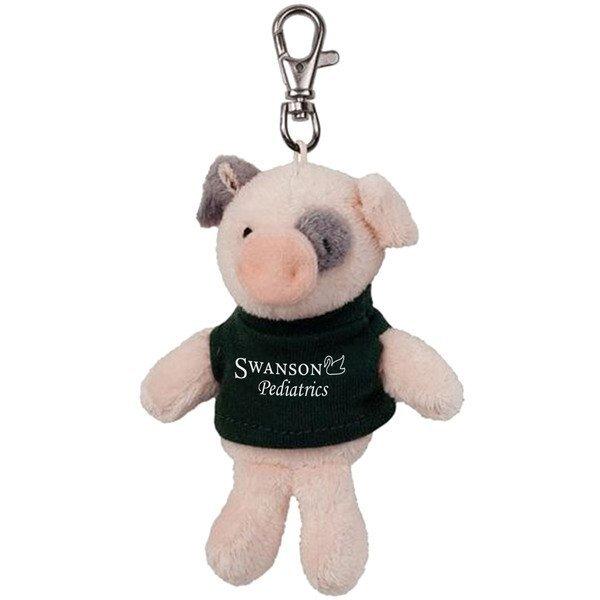 Pig Wild Bunch Plush Key Tag