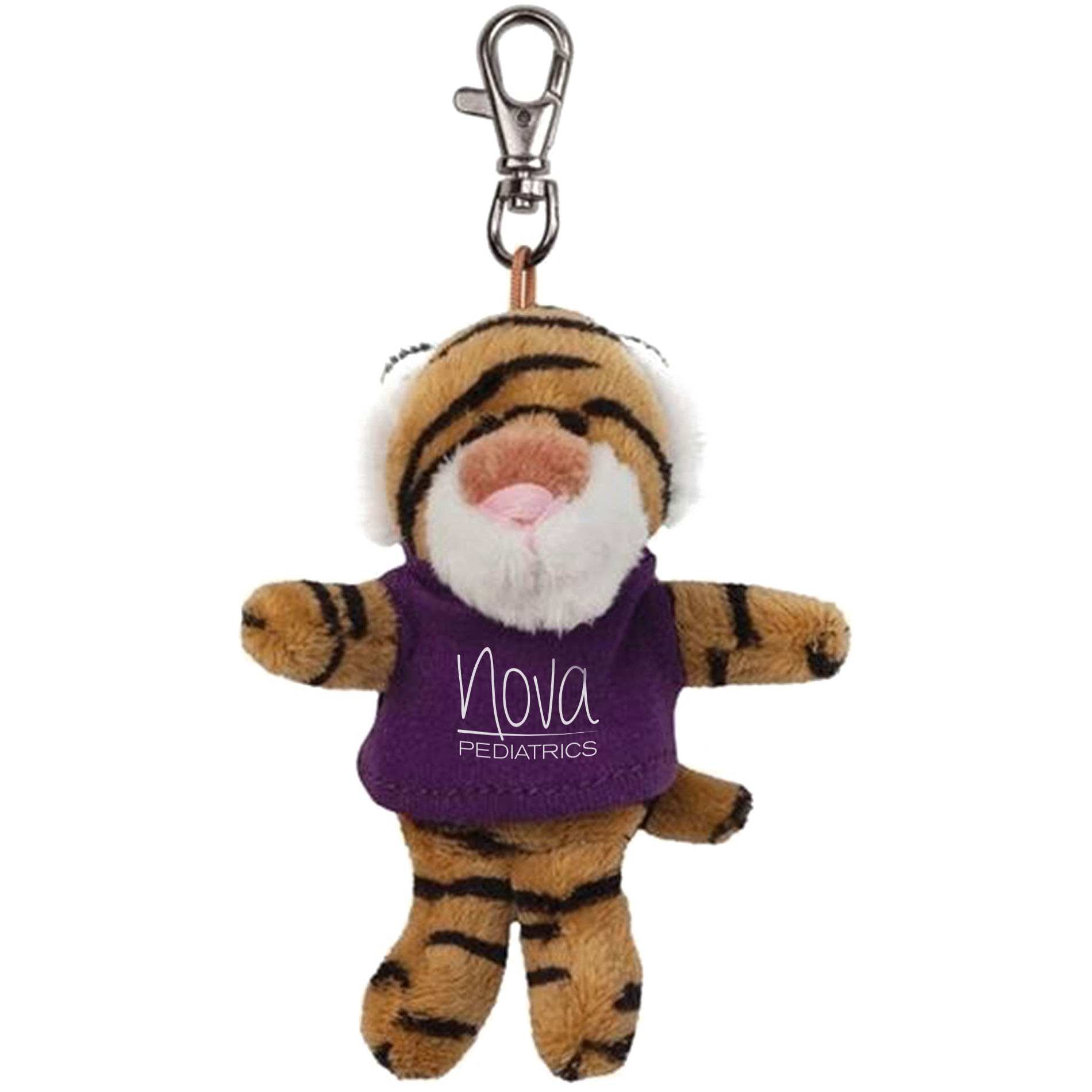 Tiger Wild Bunch Plush Key Tag