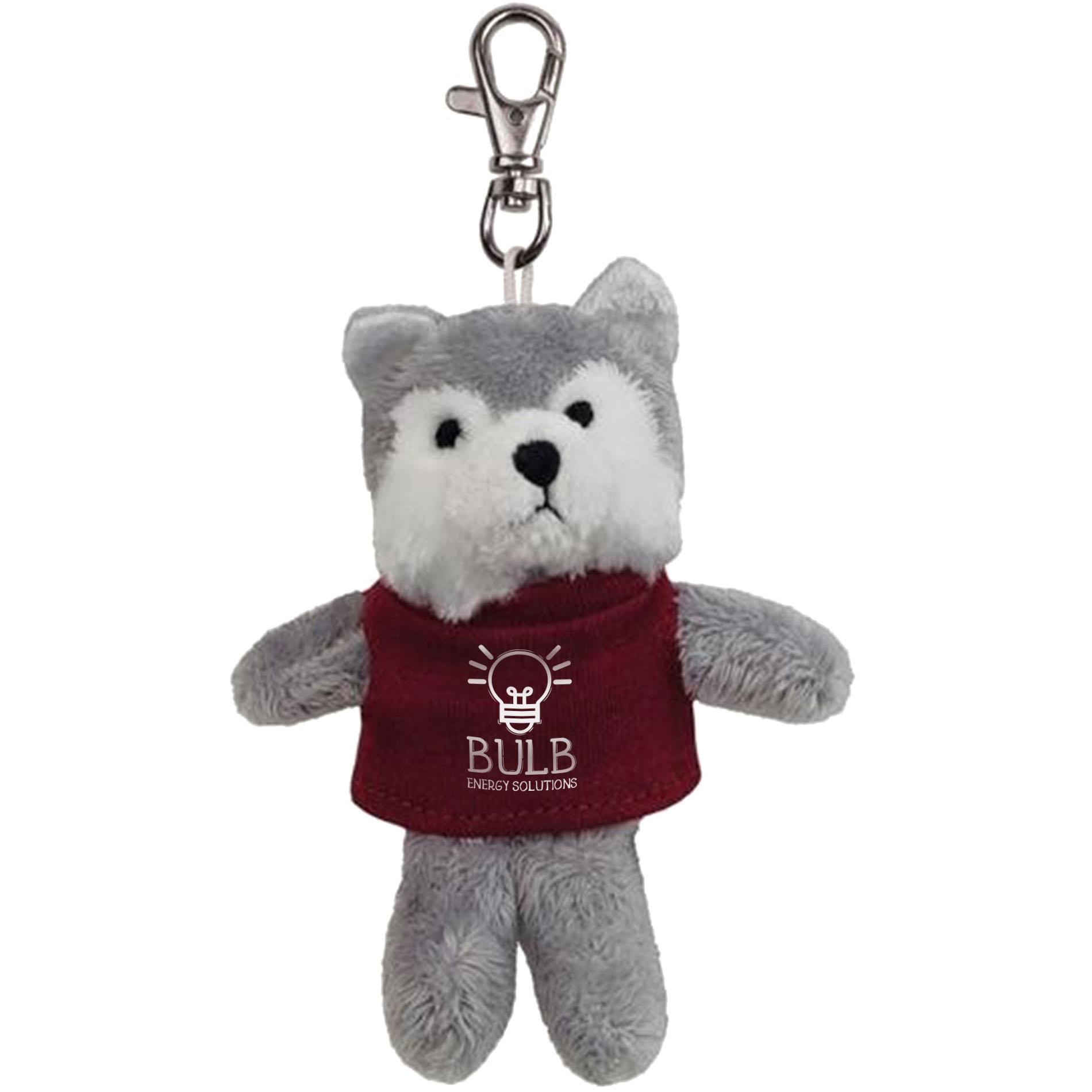 Wolf Wild Bunch Plush Key Tag