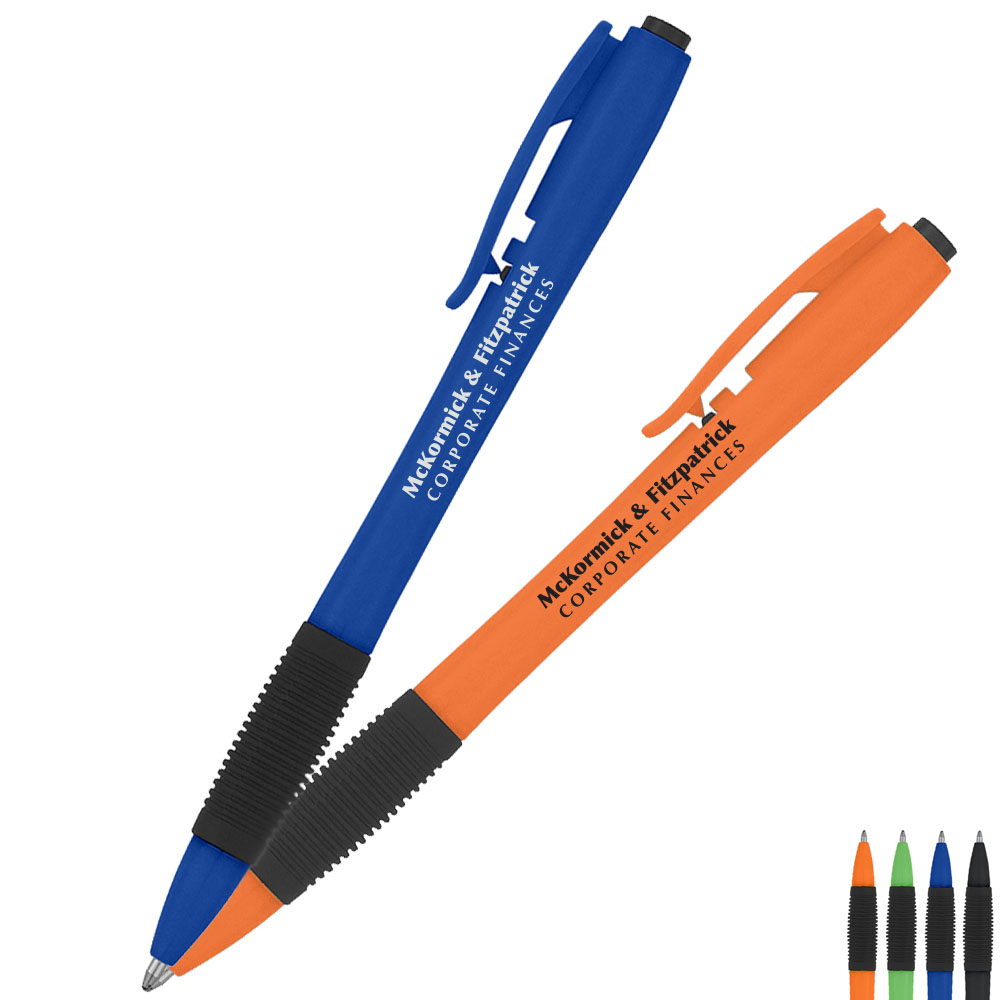 Snap Economy Solid Color Barrel Ballpoint Pen