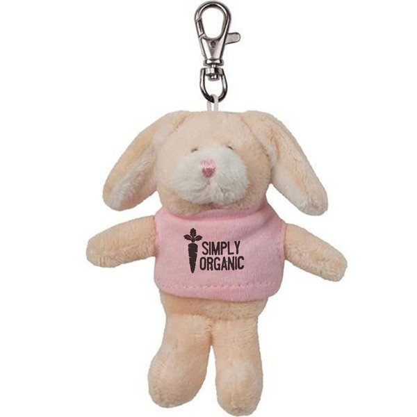 Bunny Wild Bunch Plush Key Tag