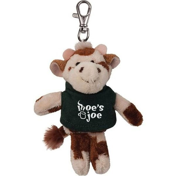 Cow Wild Bunch Plush Key Tag