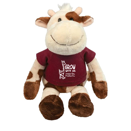 Cow Wild Bunch Plush, 11""