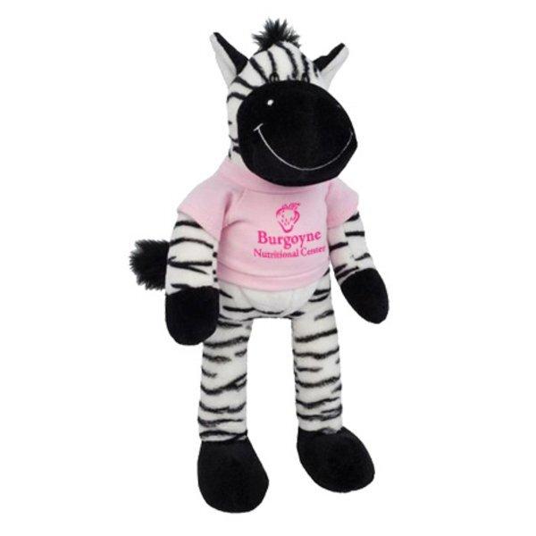 """Zebra Wild Bunch Plush, 11"""""""
