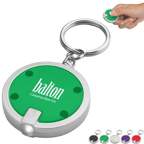 Round LED Light Key Chain