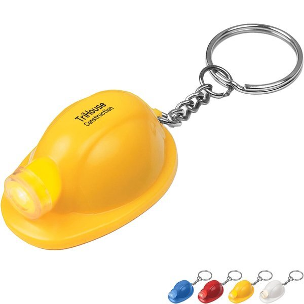 Hard Hat LED Light Key Chain