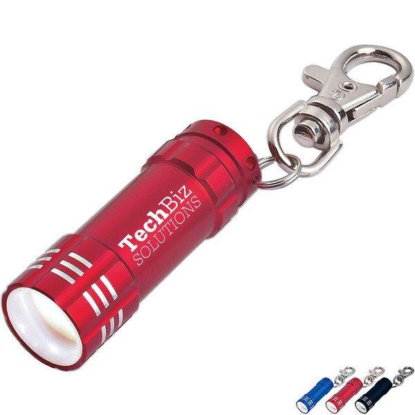 Mini Aluminum 3 LED Light with Key Clip