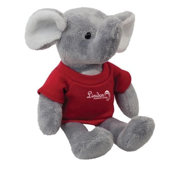 "Elephant Plush Mascot, 8"""