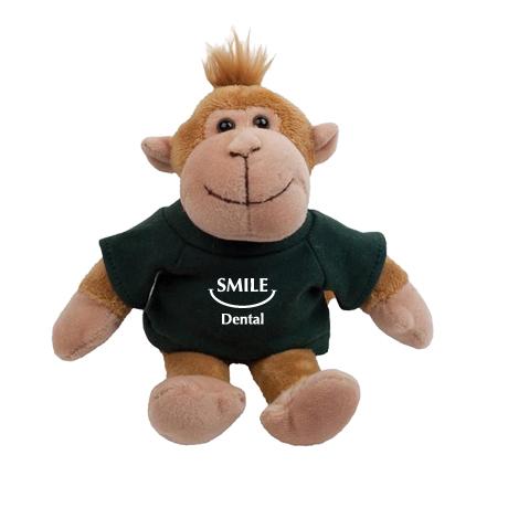 "Monkey Plush Mascot, 8"""