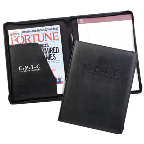 Zippered Leather Decision Maker Portfolio