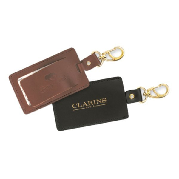 Swivel Leather Luggage Tag