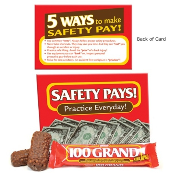 """Snack Kit 100 Grand®  Featuring """"Safety Pays! Practice Everyday!"""", Stock"""