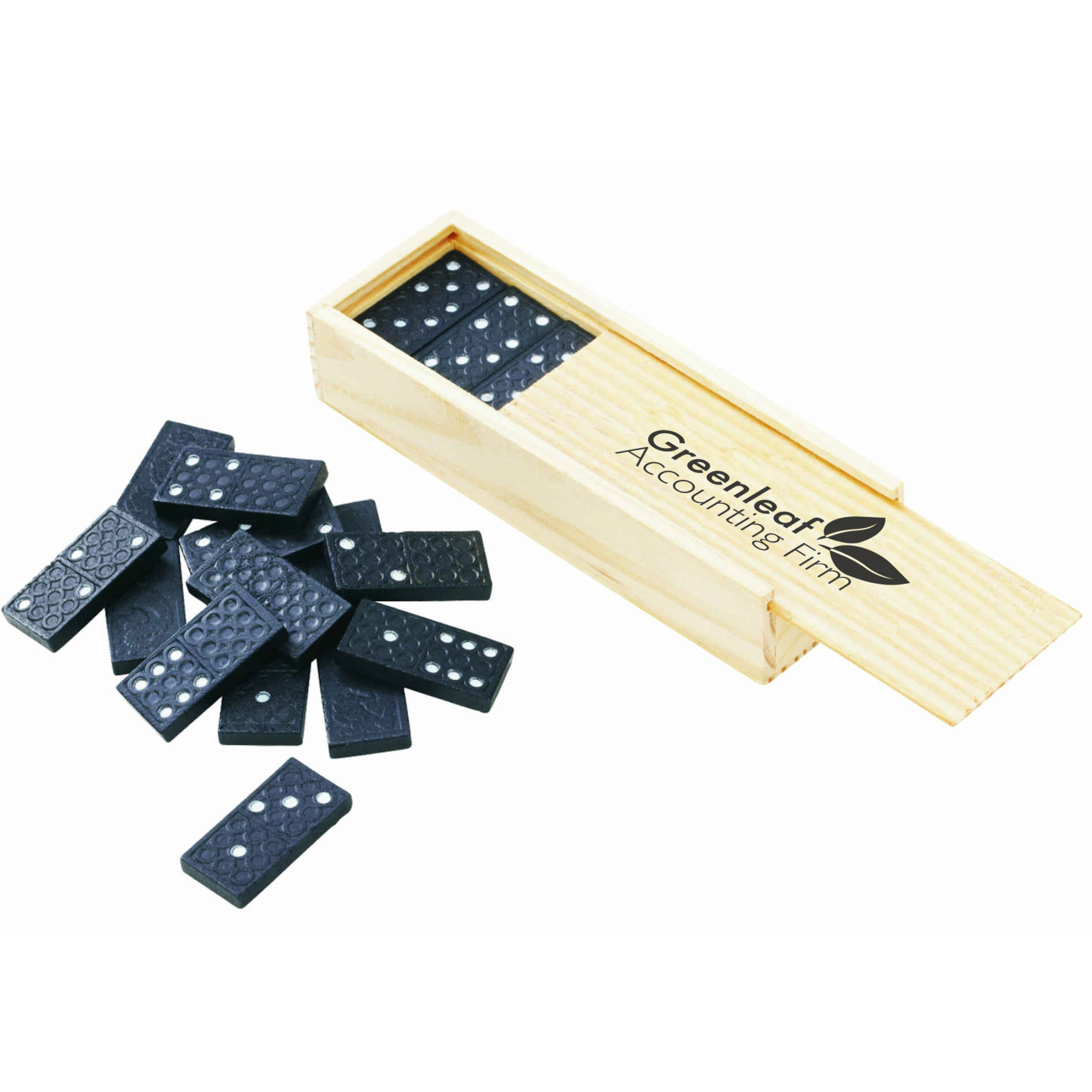 Dominoes in a Wood Box