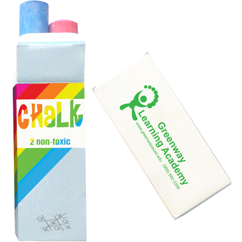Two-Pack Colored Jumbo Chalk