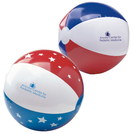 Patriotic Beach Ball, 16""