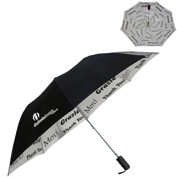 "World of Thanks Auto Open Umbrella, 48"" Arc"