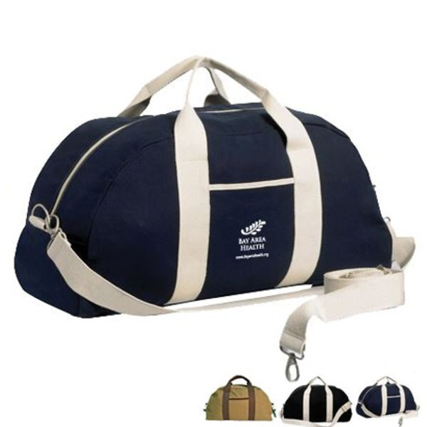 Canvas Overnight Duffel Bag, 22-1/2""