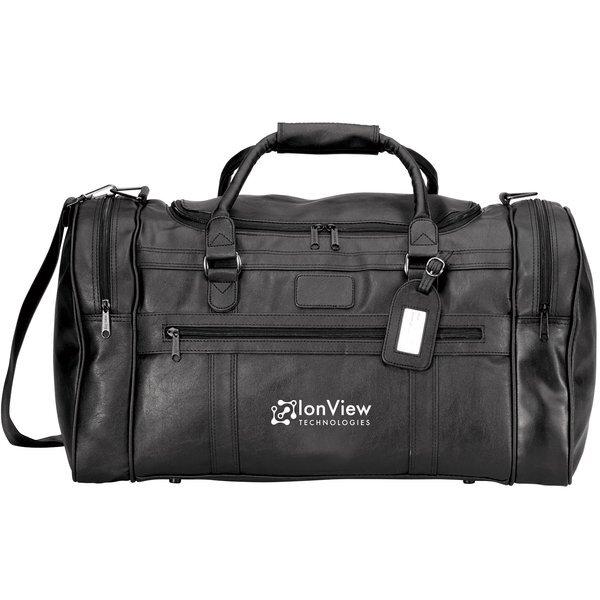 "Large Executive Faux Leather Travel Bag, 22"""